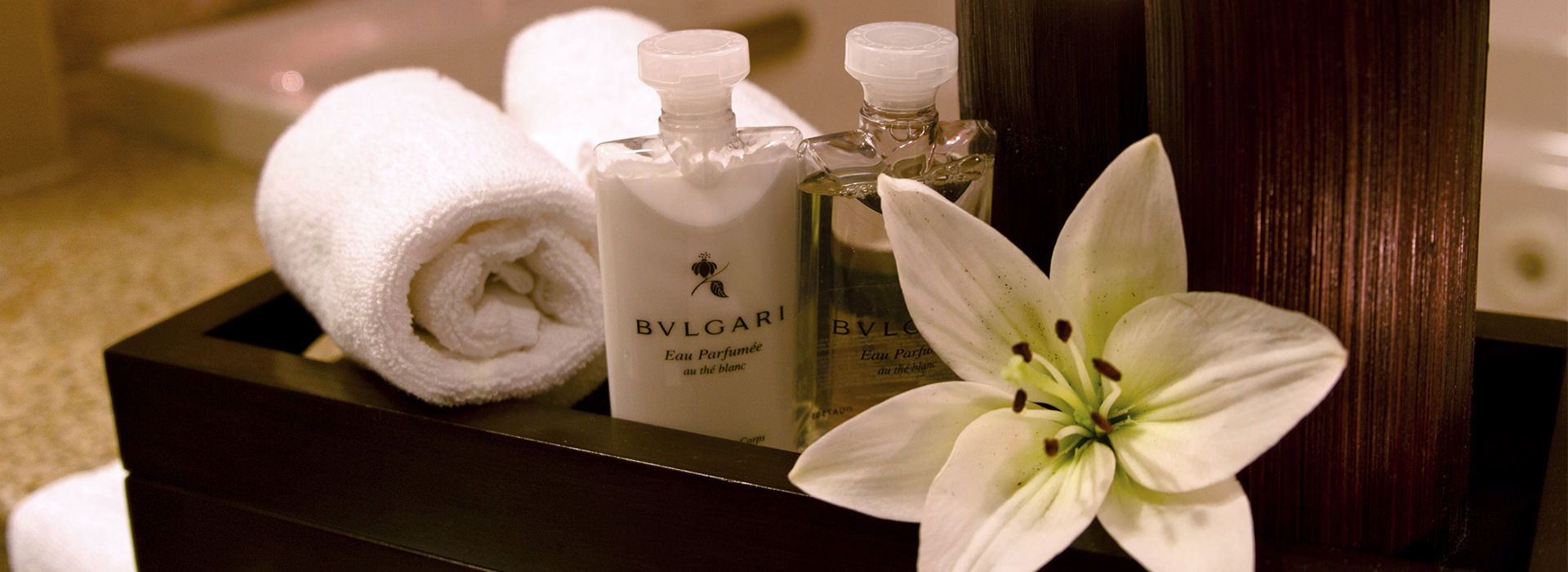 Bulgari amenities in Riviera Maya Resort