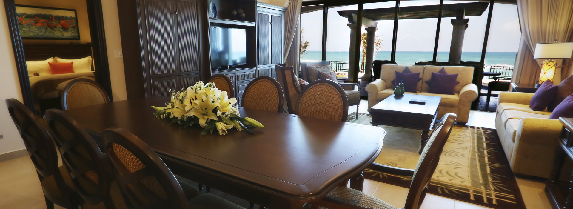 Beachfront suite in Riviera Maya resort